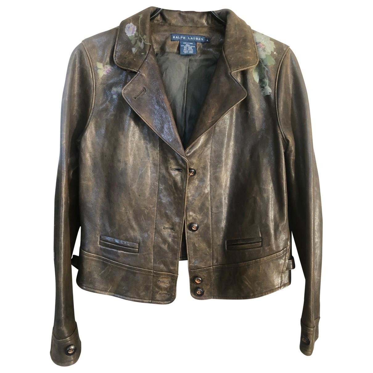 Ralph Lauren \N Green Leather Leather jacket for Women 4 US