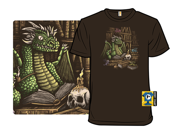Mythical Book Wyrm T Shirt
