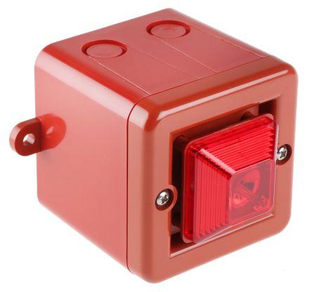 e2s SON4 Sounder Beacon 104dB, Red Xenon, 24 V dc, IP66