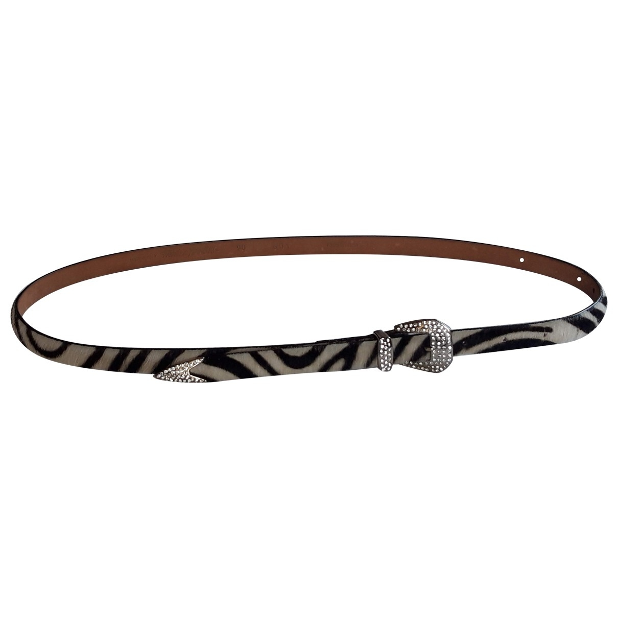 Non Signé / Unsigned \N Leather belt for Women 90 cm