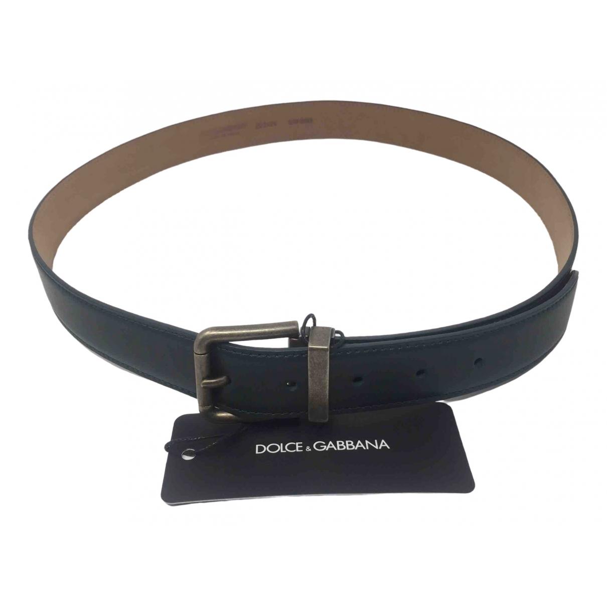Dolce & Gabbana \N Green Leather belt for Men 95 cm