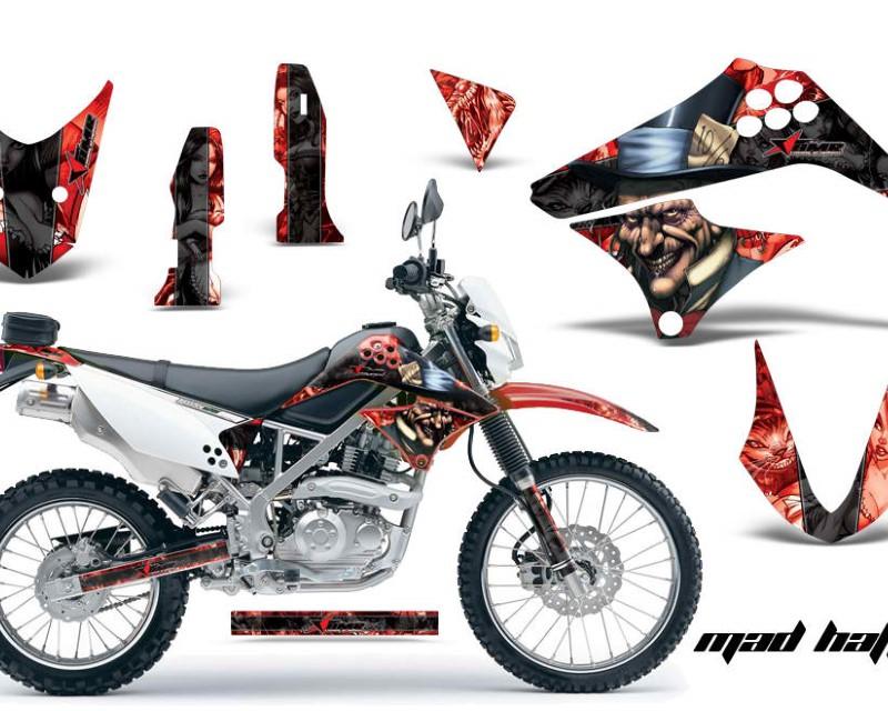 AMR Racing Dirt Bike Graphics Kit Decal Sticker Wrap For Kawasaki KLX125 2010-2016áHATTER BLACK RED