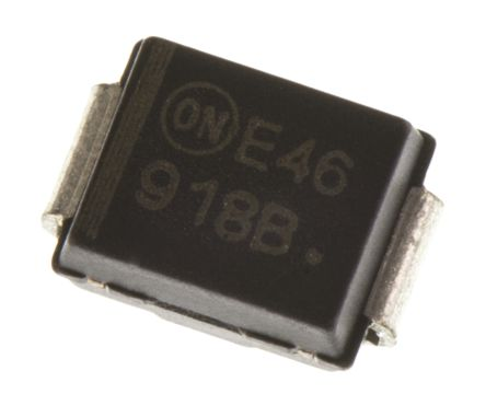ON Semiconductor , 5.1V Zener Diode 5% 3 W SMT 2-Pin SMB (25)