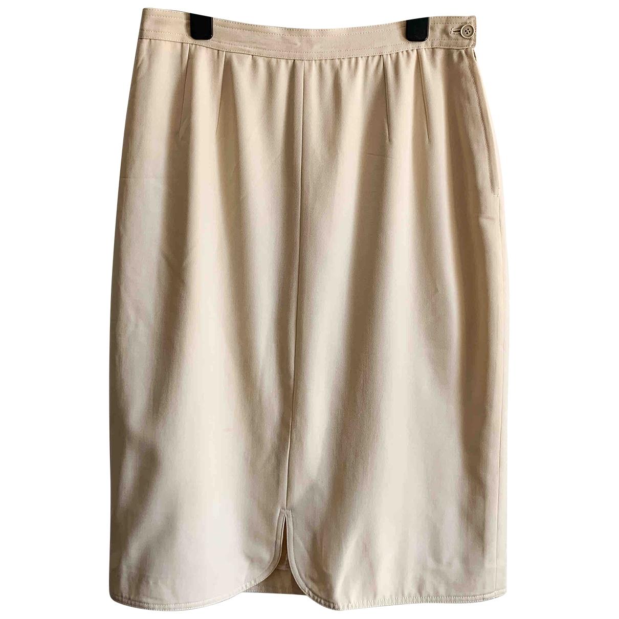 Valentino Garavani \N White Cotton skirt for Women 44 IT