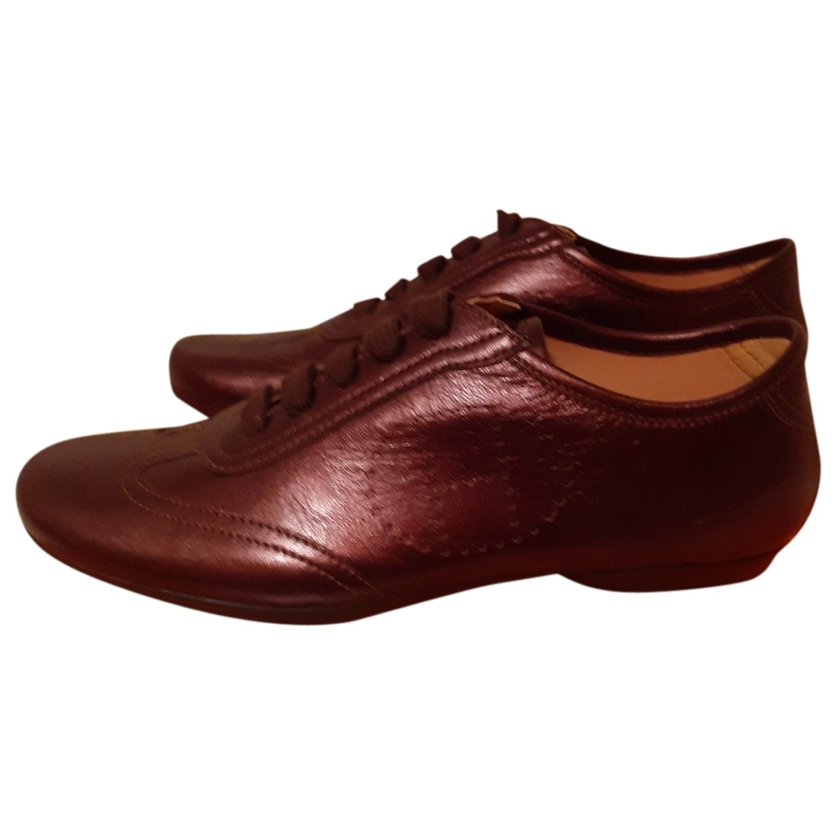 Hermès \N Brown Leather Trainers for Women 38 EU