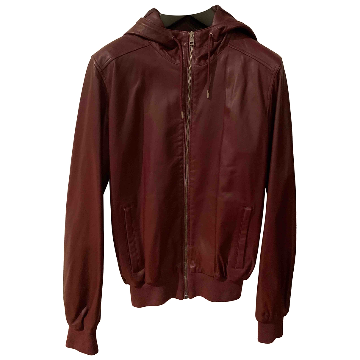 Gucci \N Burgundy Leather jacket  for Men 44 IT