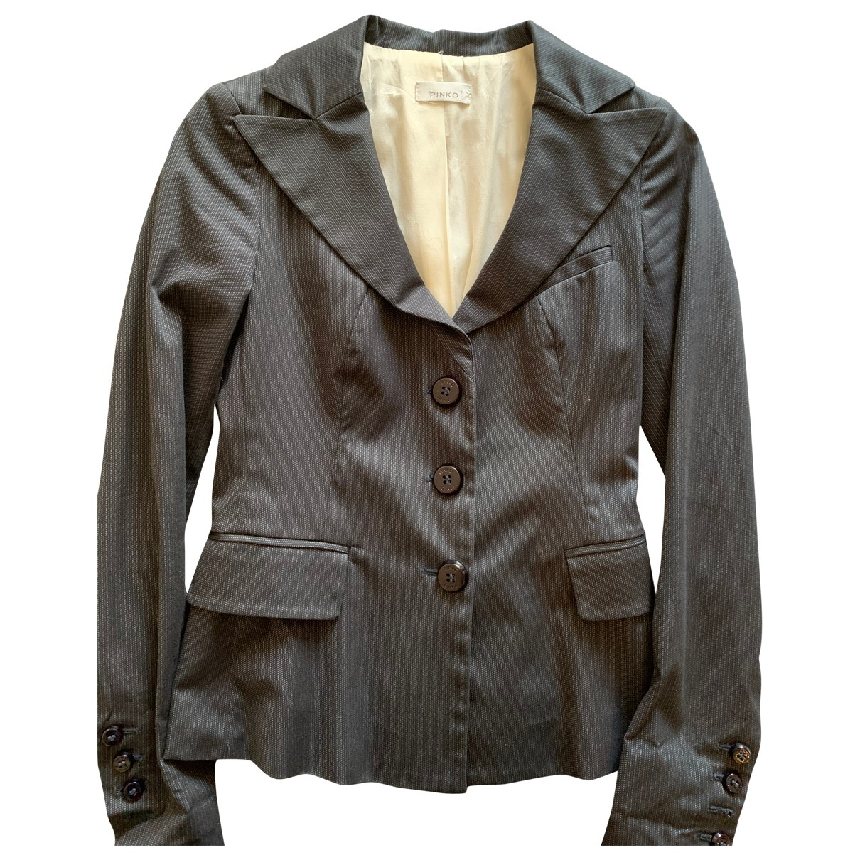 Pinko \N Grey Cotton jacket for Women 38 IT