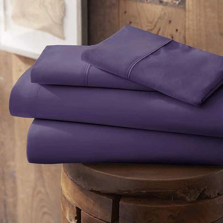 Casual Comfort Premium Ultra Soft Microfiber Wrinkle Free Sheet Set, One Size , Purple