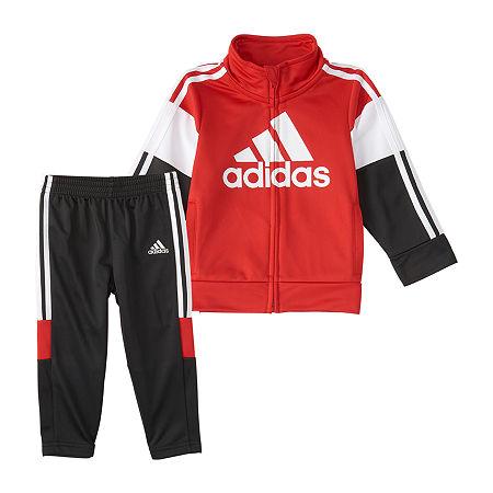 adidas Little Boys 2-pc. Pant Set, 7 , Red
