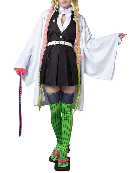 Milanoo Demon Slayer: Kimetsu No Yaiba Kanroji Mitsuri Kimono Only Anime Cosplay Costume