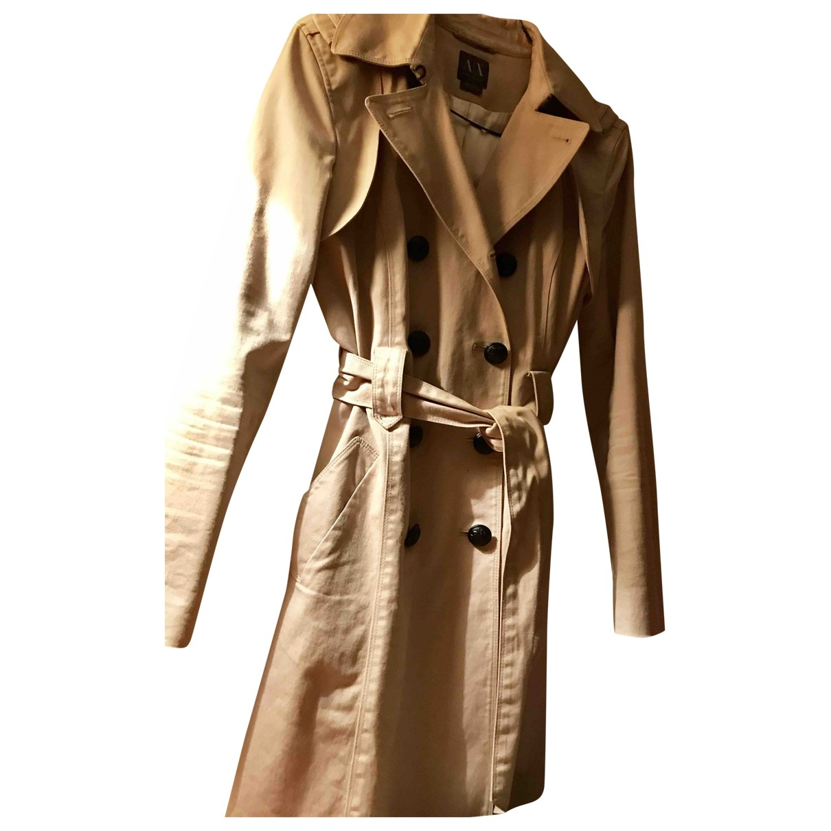 Emporio Armani \N Beige Trench coat for Women 36 FR