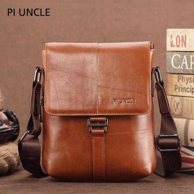 Men Genuine Leather Casual Crossbody Bag