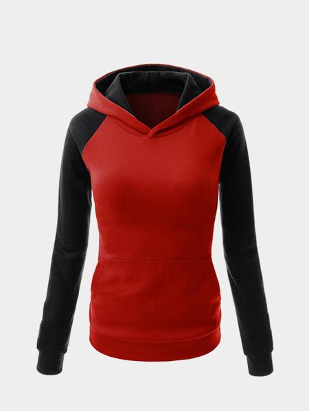 Yoins Fashion Hoodie With Contrast Sleeve