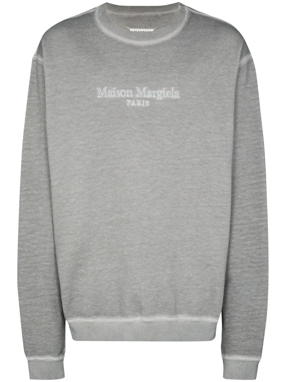 Cotton Blend Resin Dye Logo Sweatshirt