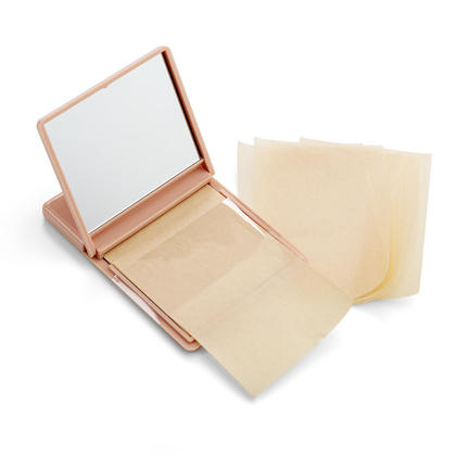 Lunar Year Sale Facial Oil Blotting Paper Sheets with Folding Makeup Mirror, 50 Sheets/Pack