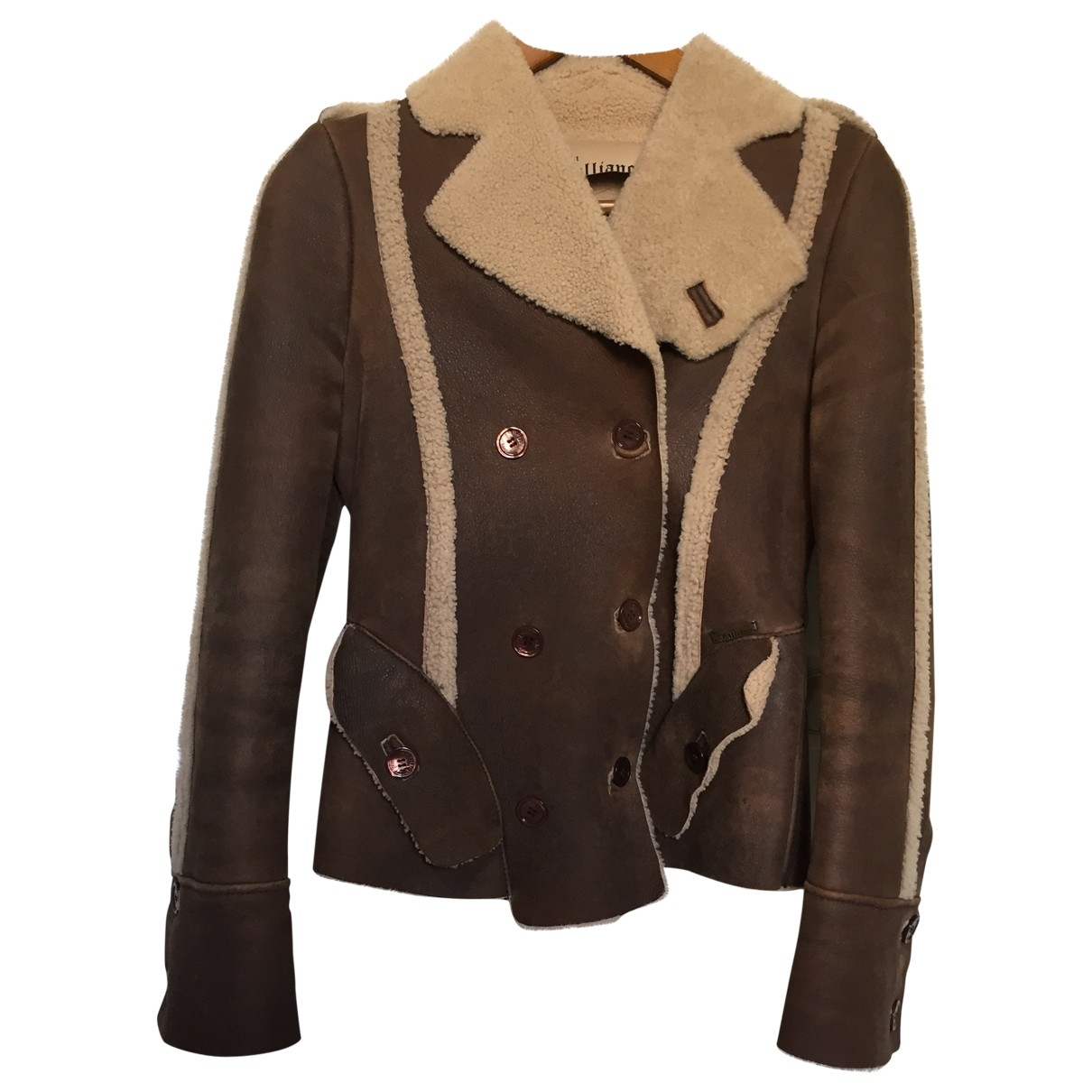 John Galliano \N Brown Leather Leather jacket for Women 38 FR