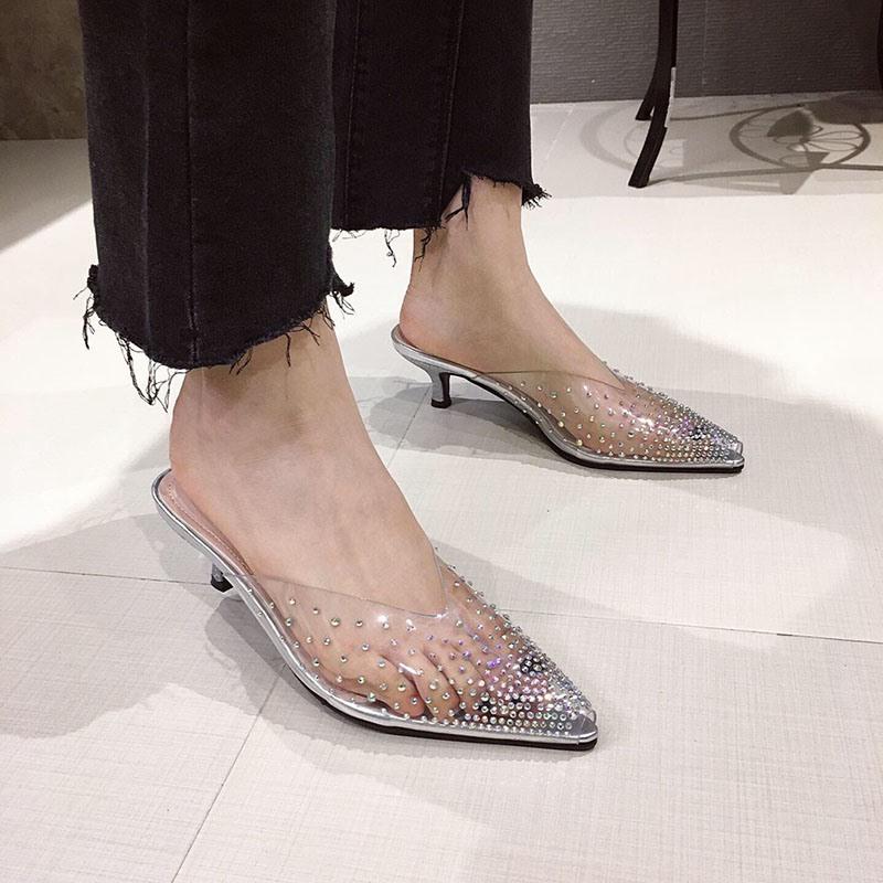 Ericdress Stiletto Heel Closed Toe Slip-On Summer Slippers