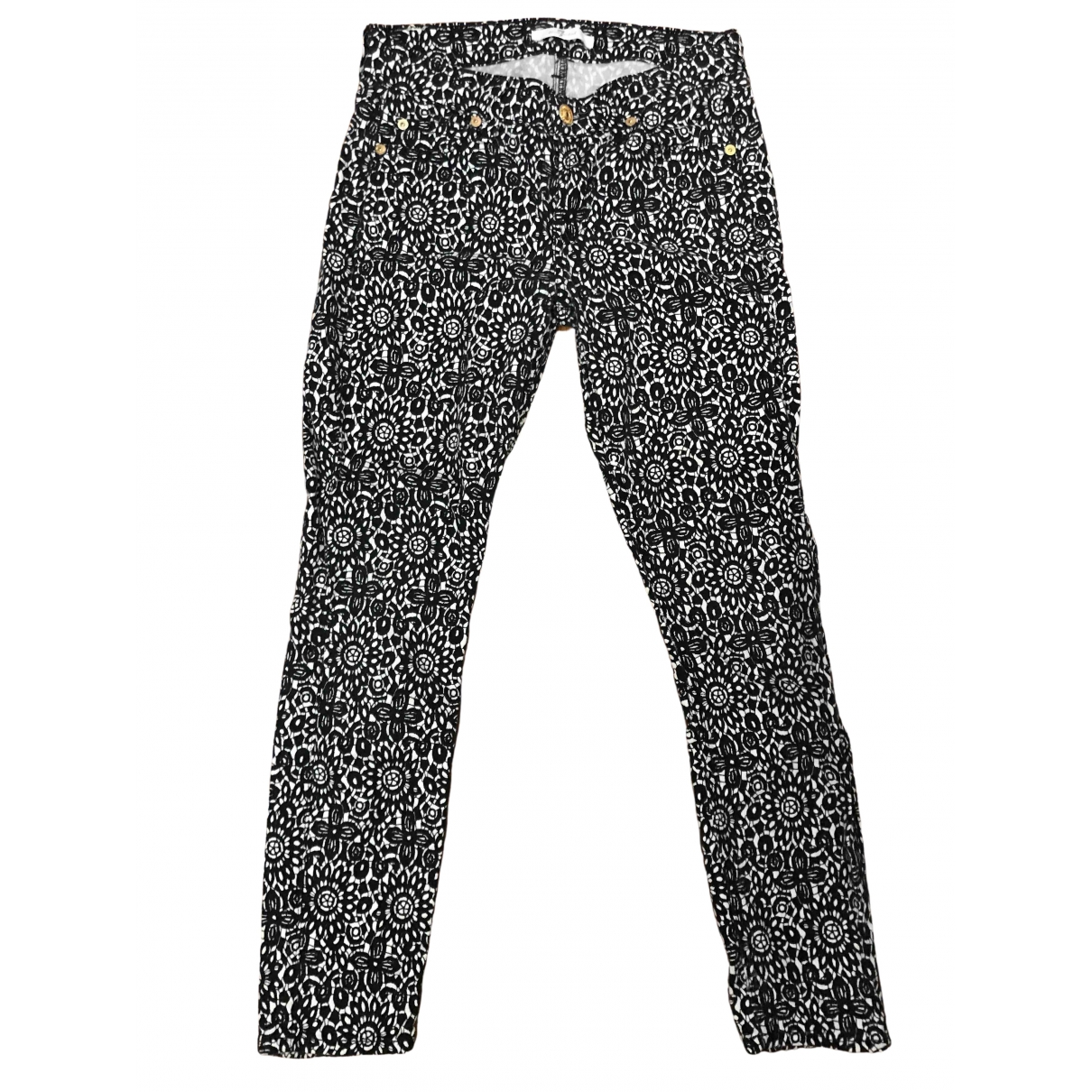 7 For All Mankind \N Black Cotton Trousers for Kids 18 months - up to 81cm FR