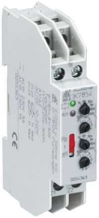 Dold SPDT Multi Function Timer Relay - 0.03 → 300 min, 0.06 → 30 s, 3 → 300 h, 1 Contacts, DIN Rail