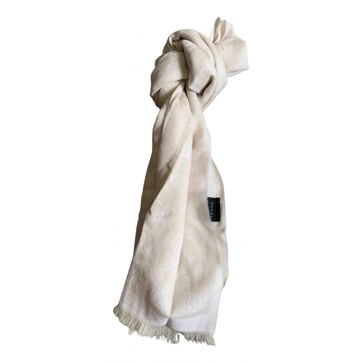Gucci \N White Wool scarf & pocket squares for Men \N