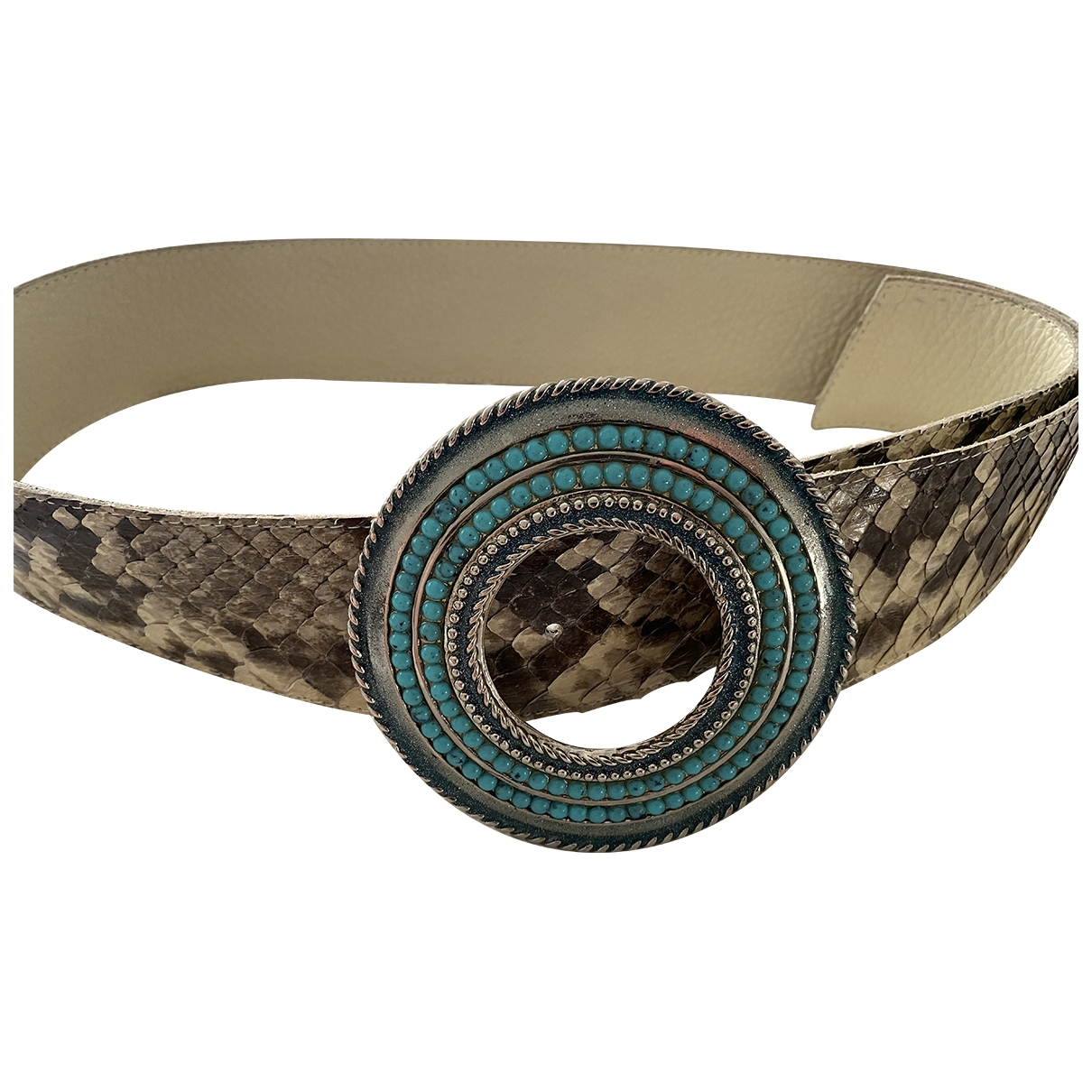 Non Signé / Unsigned \N Multicolour Python belt for Women M International