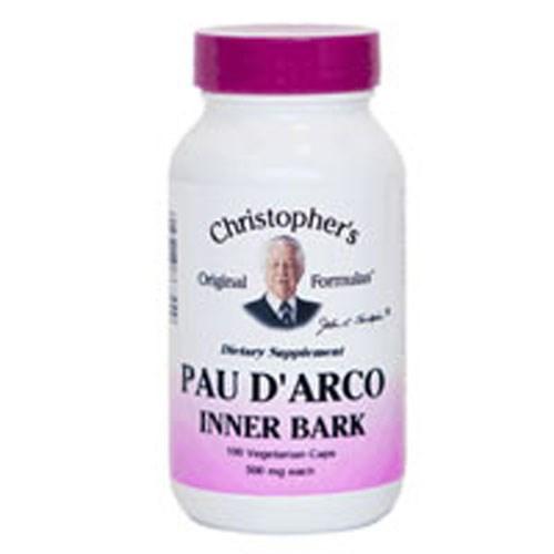 Pau D Arco Inner Bark Extract 100 Vegicaps by Dr. Christophers Formulas