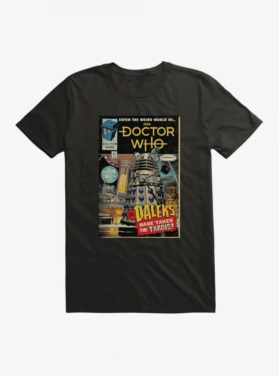 Doctor Who Daleks Takeover Comic Cover T-Shirt