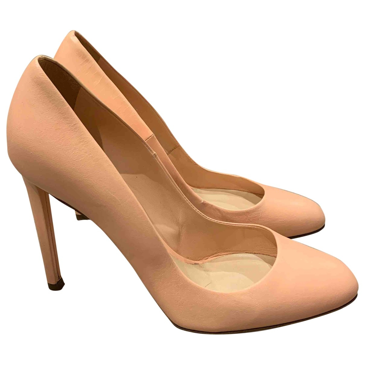 Dior \N Pink Leather Heels for Women 37 EU