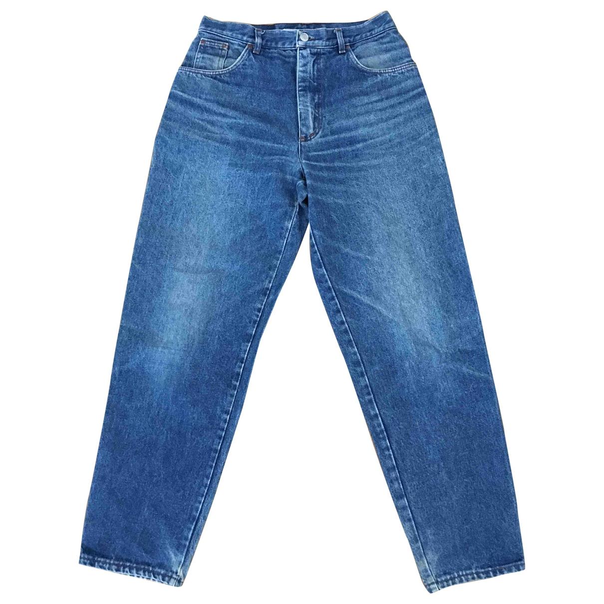 Krizia \N Blue Cotton Jeans for Women 34 FR