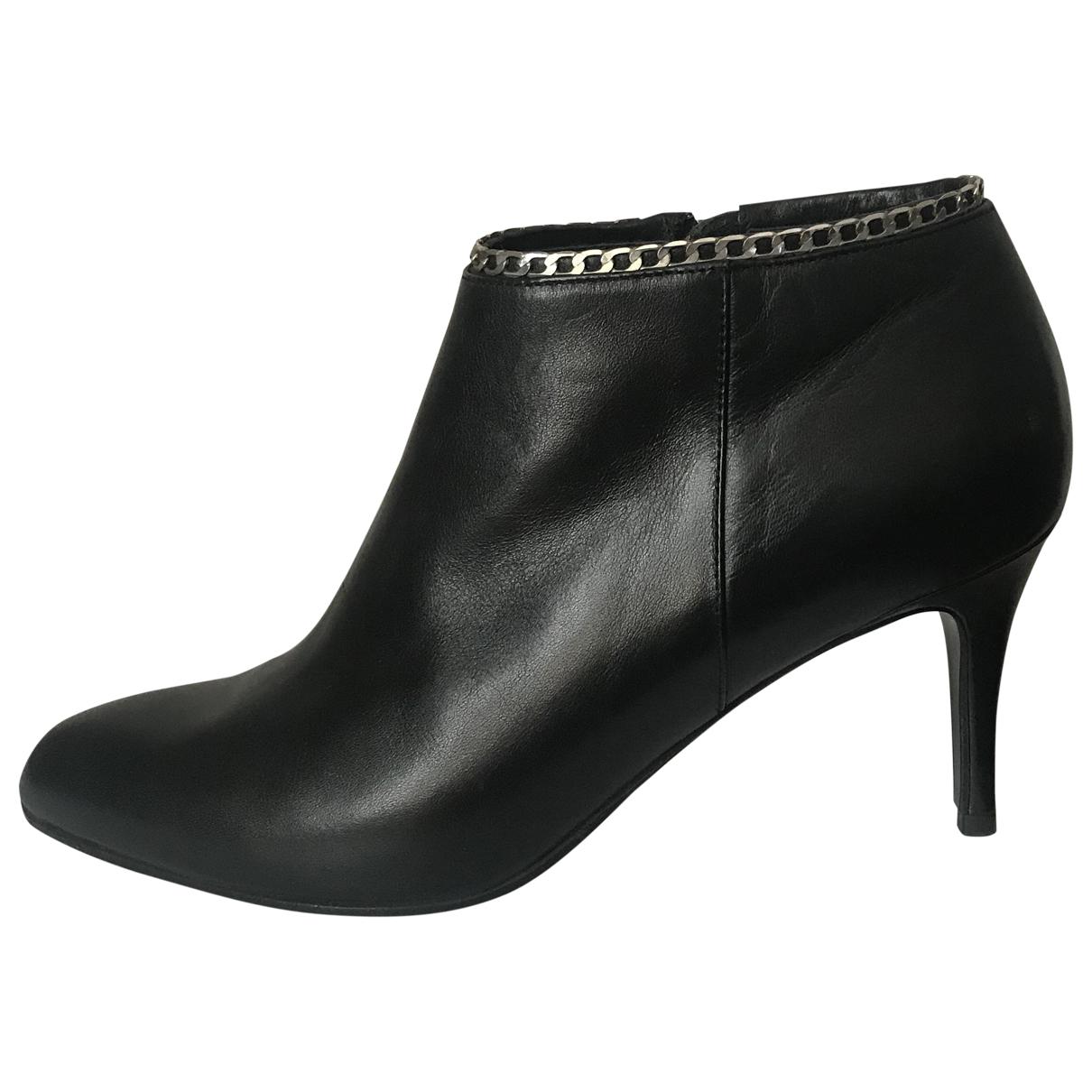 Lk Bennett \N Black Leather Ankle boots for Women 38 EU