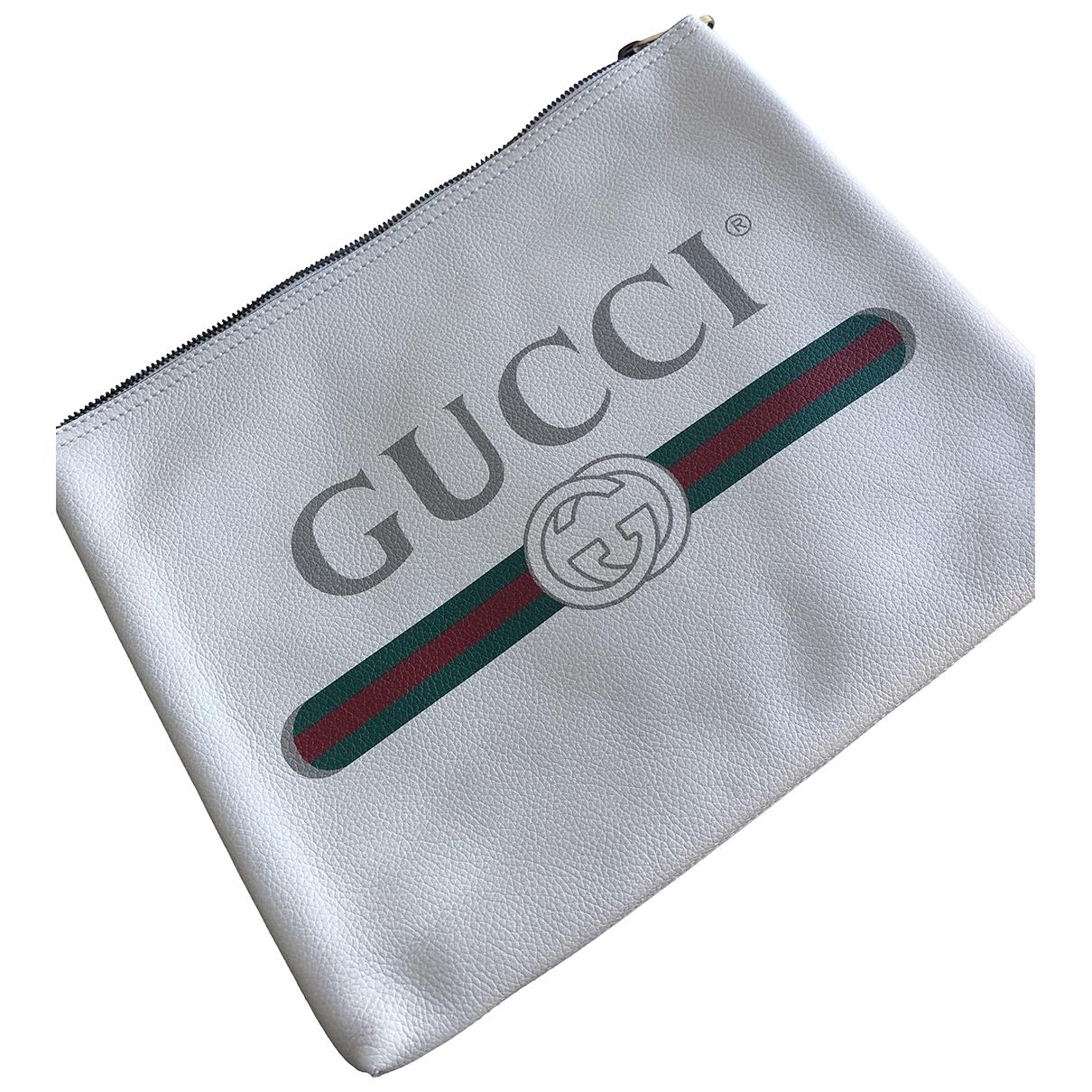 Gucci \N White Leather Clutch bag for Women \N