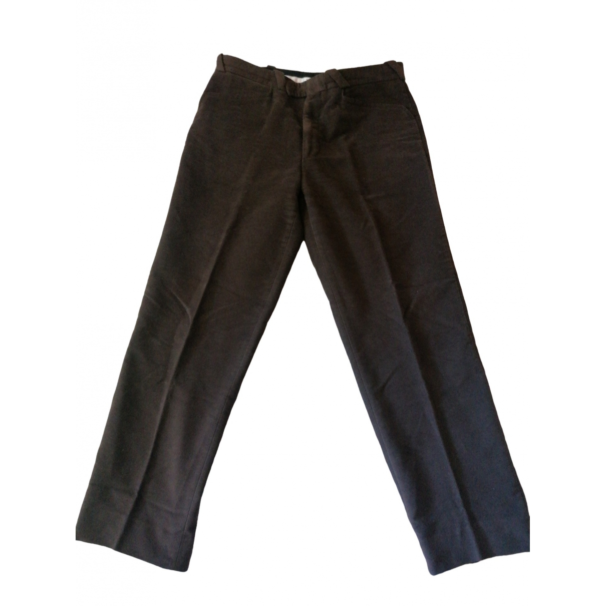 Thierry Mugler \N Brown Cotton Trousers for Men 52 IT