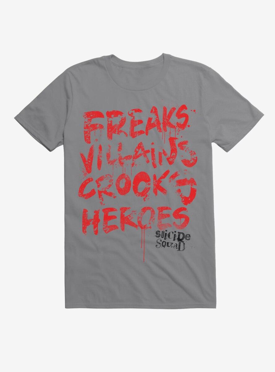 DC Comics Suicide Squad Freaks Villains Crooks Heroes T-Shirt