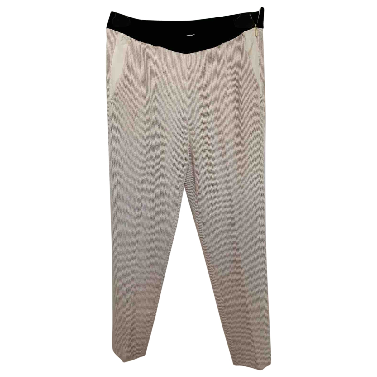 Forte_forte \N Pink Wool Trousers for Women 0 0-5