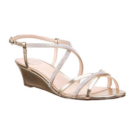 I. Miller Womens Fiamma Wedge Sandals, 6 Medium, Yellow