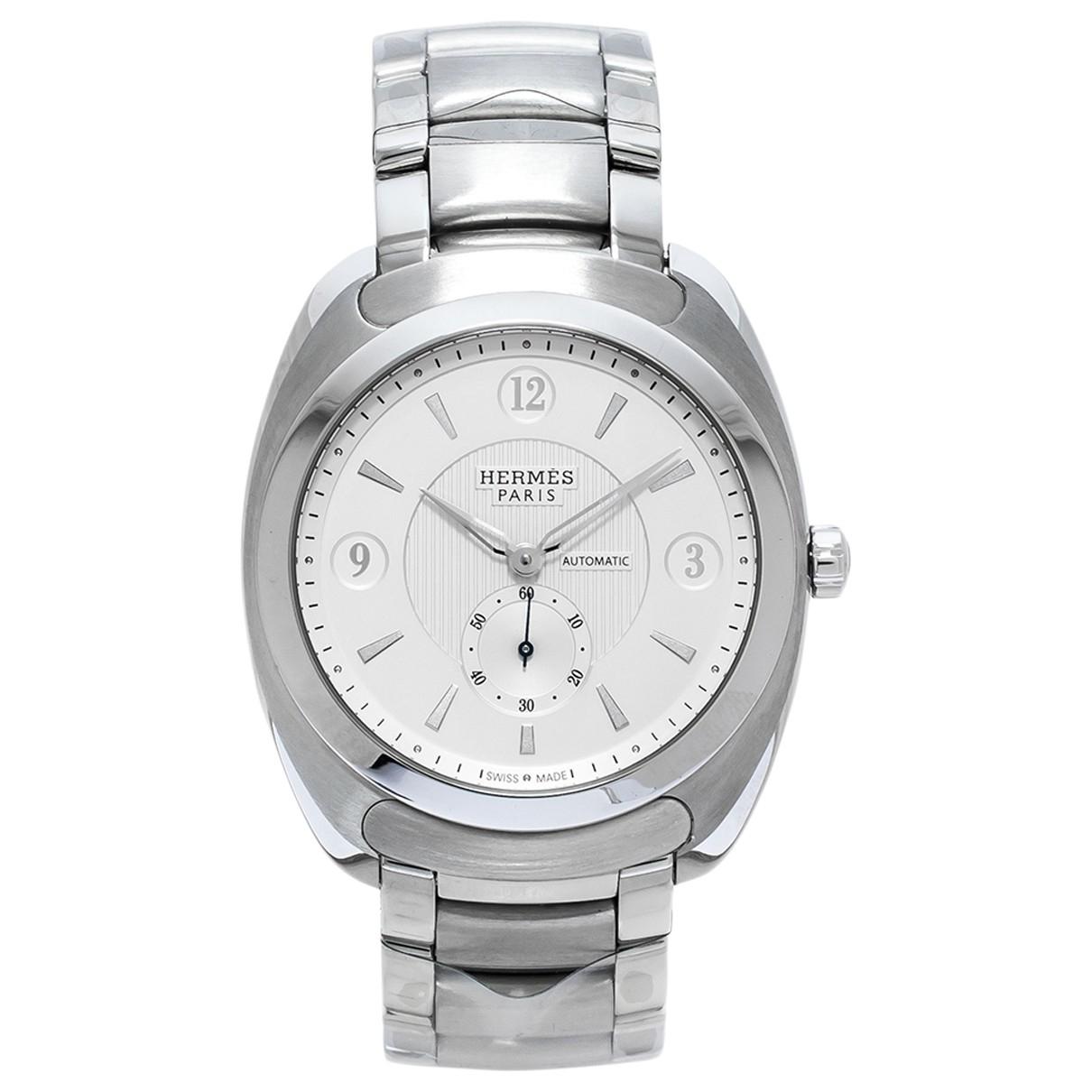 Hermès Dressage Silver Steel watch for Men \N