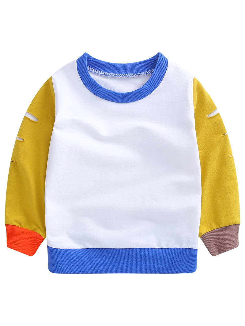 Ericdress Color Block Patchwork Hole Thick Boy's T-Shirt