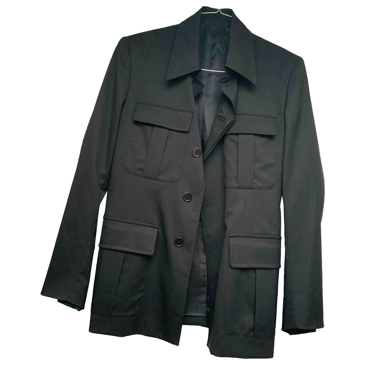 Yves Saint Laurent \N Black Wool jacket for Women 46 IT