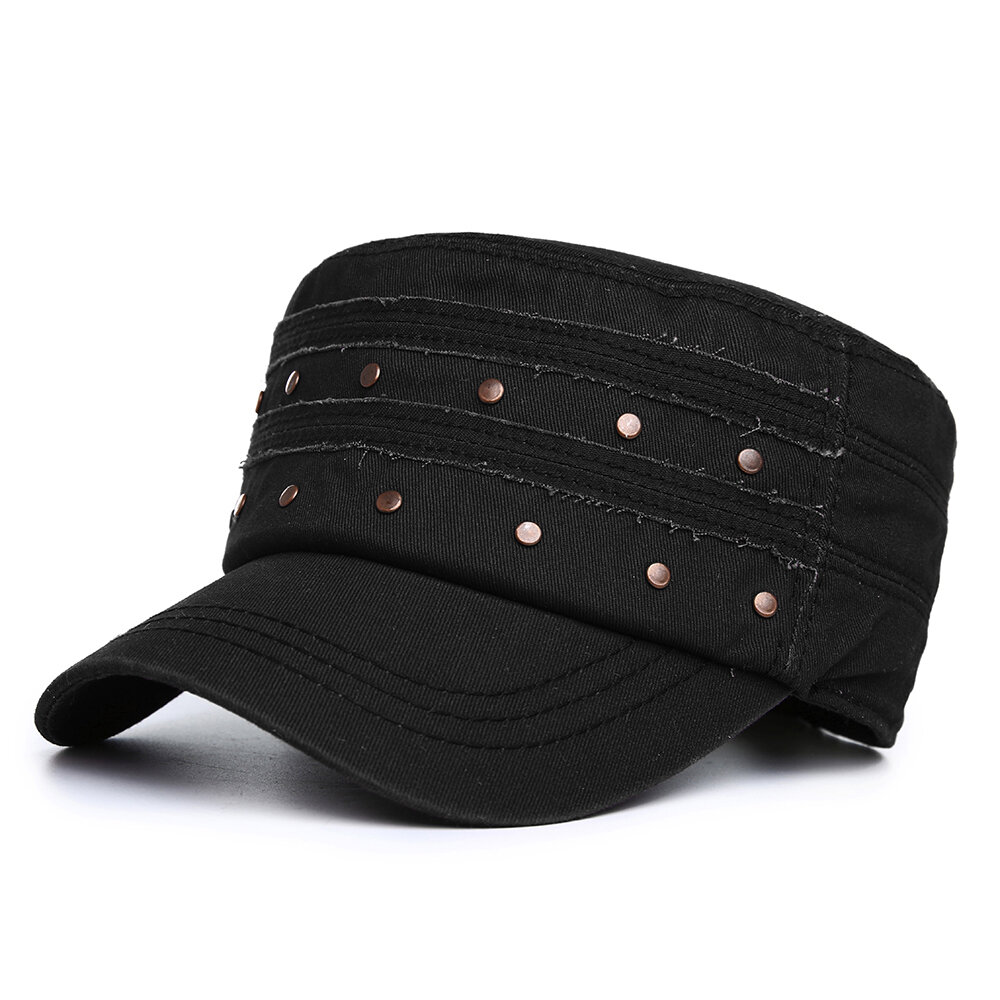 Men Vogue Cotton Flat Cap Sunshade Casual Outdoors Peaked Forward Cap Adjustable Hat