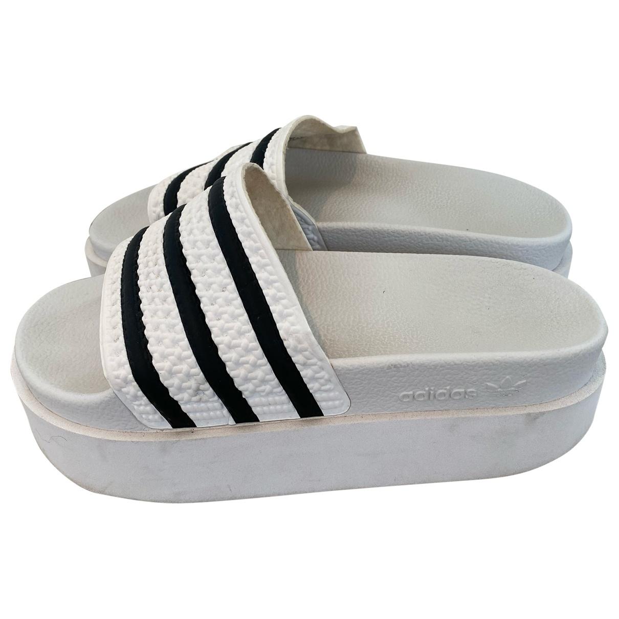 Adidas Adilette  White Sandals for Women 38 EU