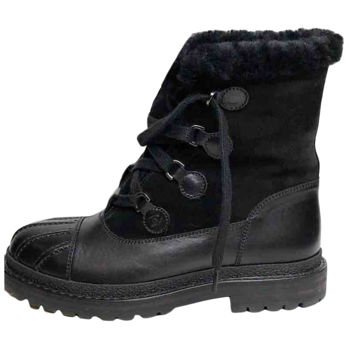 Chanel \N Black Suede Boots for Women 38.5 EU