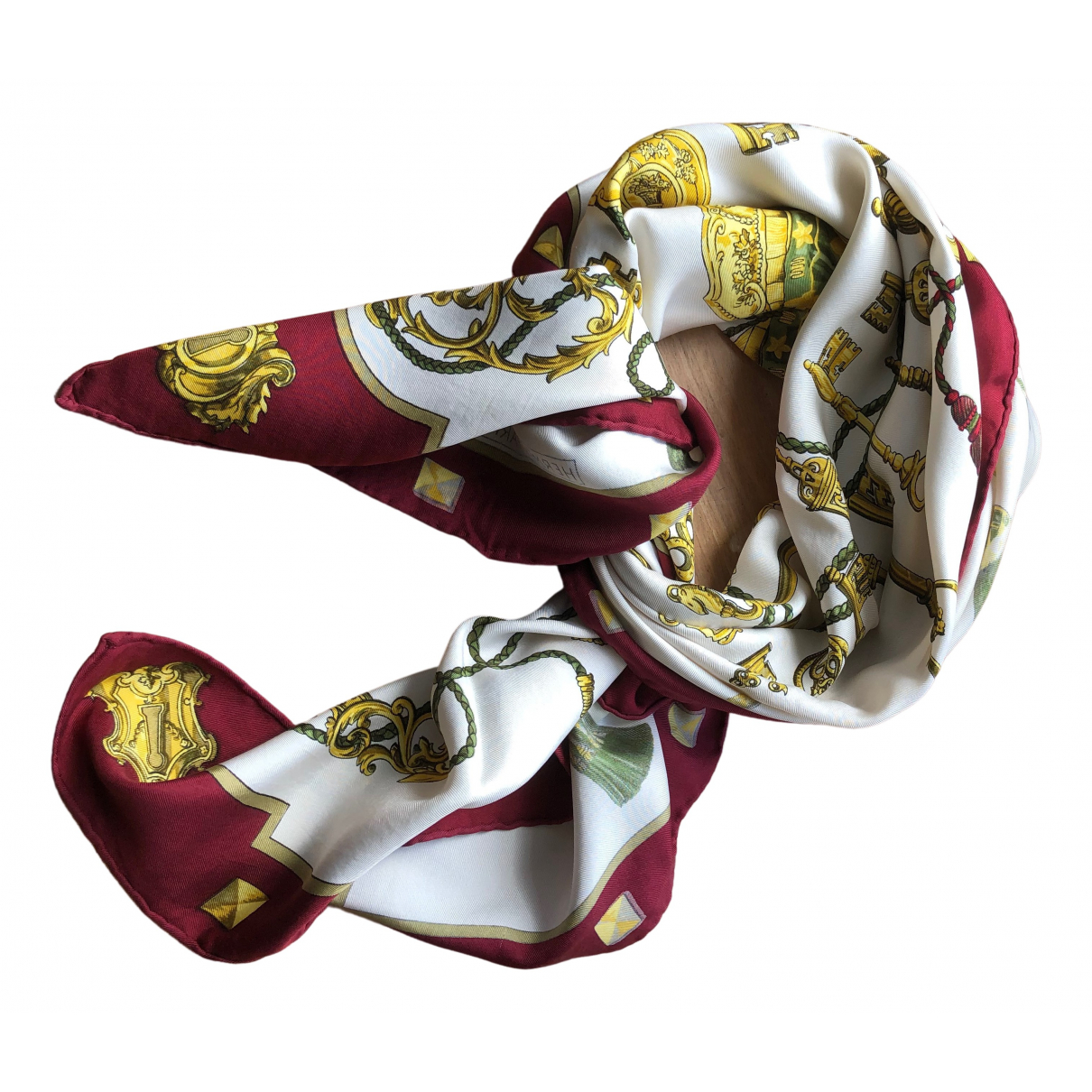 Hermès Carré 90 Burgundy Silk Silk handkerchief for Women \N