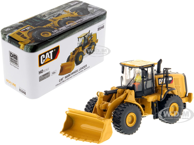 CAT Caterpillar 966M Wheel Loader with Operator High Line Series 1/87 (HO) Scale Diecast Model by Diecast Masters