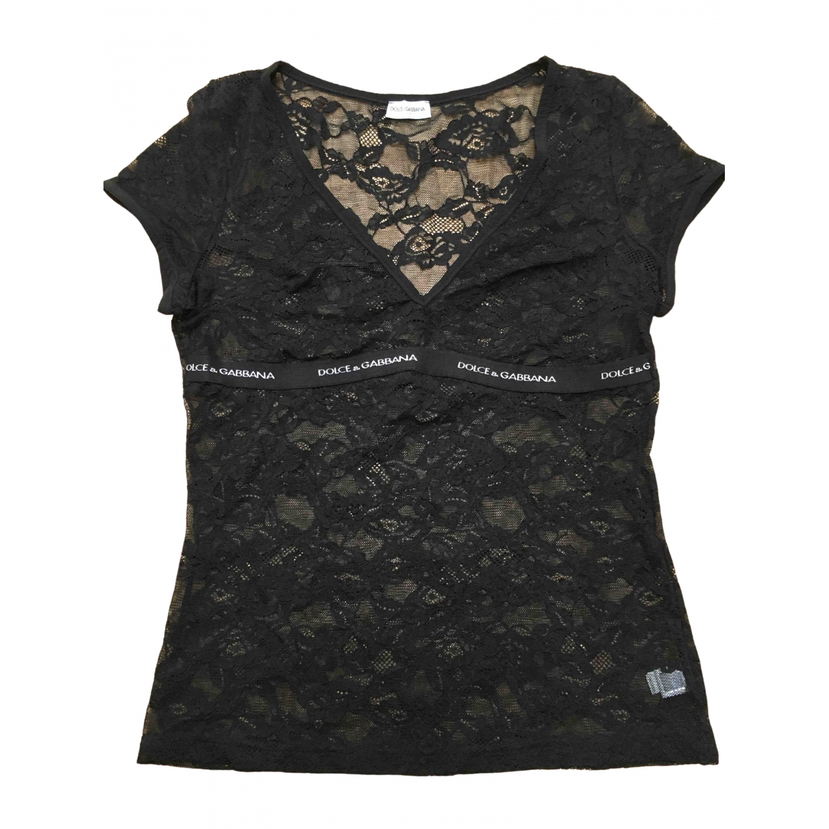 Dolce & Gabbana \N Black Lace  top for Women XL International