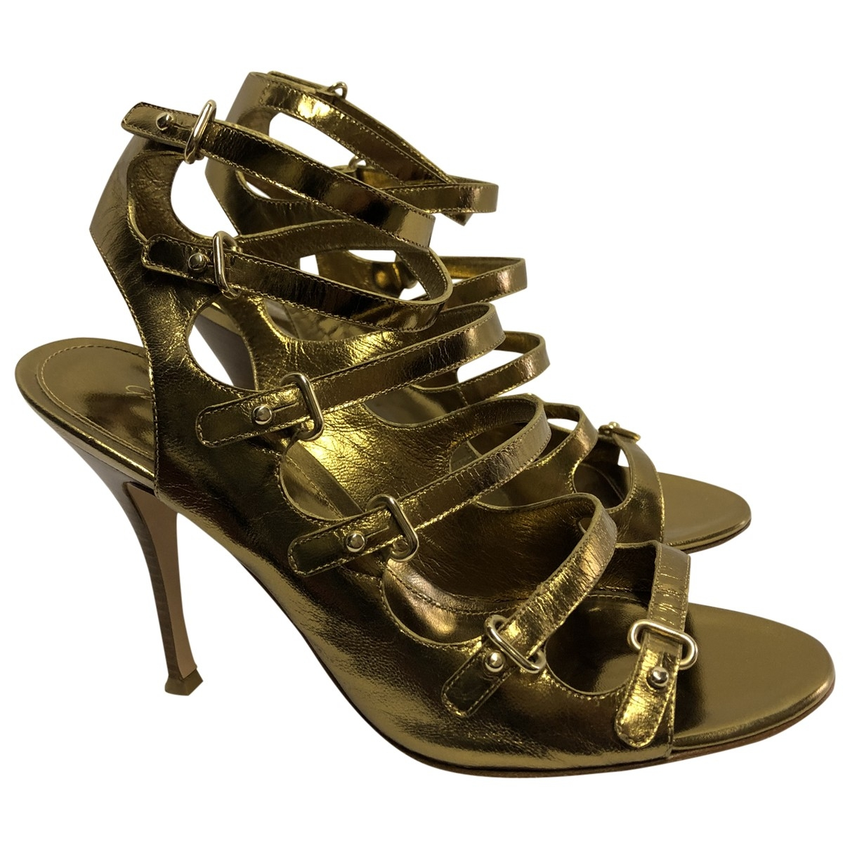 Gianvito Rossi \N Gold Leather Heels for Women 37 EU
