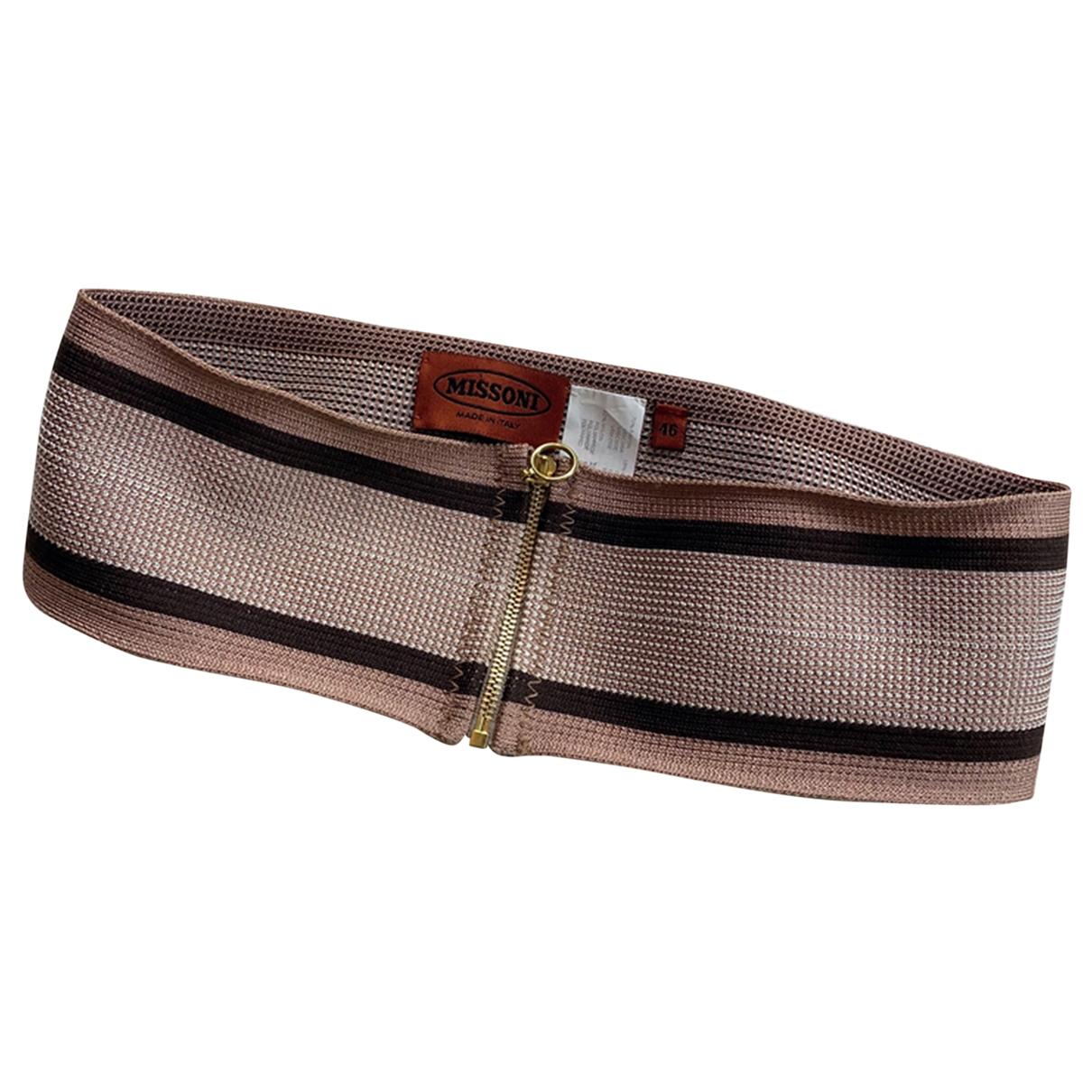 Missoni \N Pink Cloth belt for Women M International