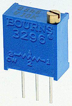 Bourns 2.5kΩ, Through Hole Trimmer Potentiometer 0.5W Top Adjust , 3296