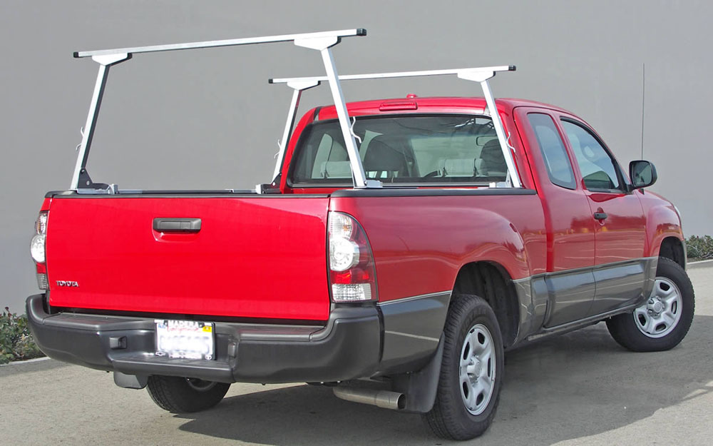 US Rack 82910313 Paddler Truck Bed Rack Brushed |  Silver Aluminum |  Mild Steel