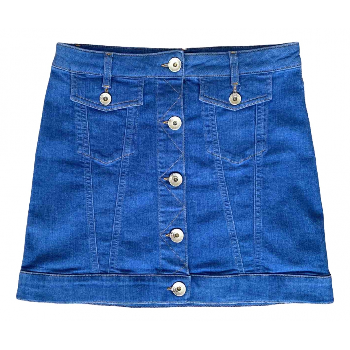 Moschino Love \N Blue Denim - Jeans skirt for Women 40 IT