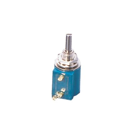 Copal Electronics 1 Gang 3 Turn Rotary Wirewound Potentiometer with an 3 mm Dia. Shaft - 1kΩ, ±5%, 2W Power Rating,